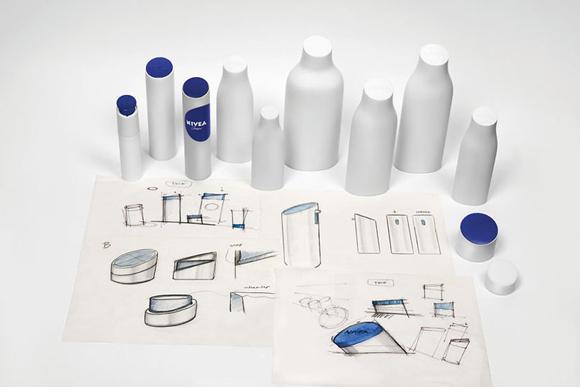 редизайн Nivea – пластмассовый флакон