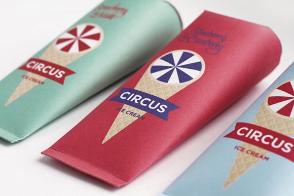 Концепт упаковки мороженого