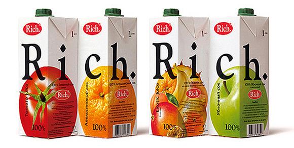 Упаковка сока Rich