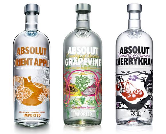 Упаковка водки Absolut