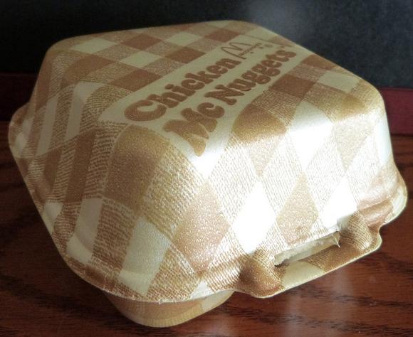 Старая упаковка McDonald's 1980