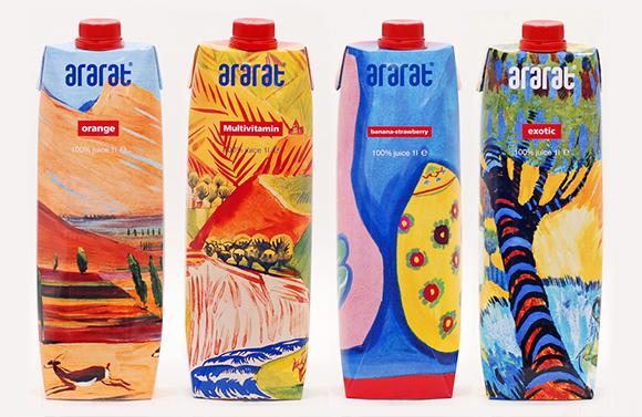 Упаковка сока Ararat