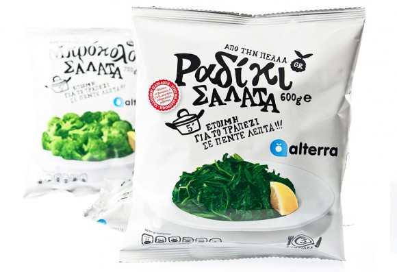 Упаковка замороженных овощей и фруктов