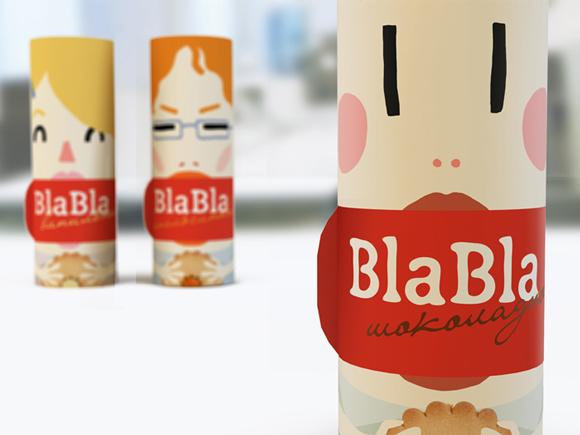 Концепт упаковки печенья Bla-bla-bla