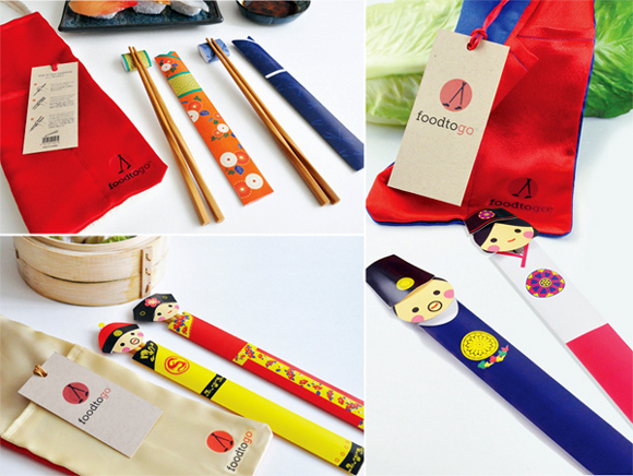 Концепт упаковки сувенира – палочек для еды