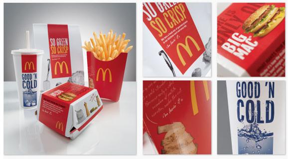 Копирайтинг на упаковке McDonald's