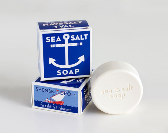 Упаковка мыла с морской солью