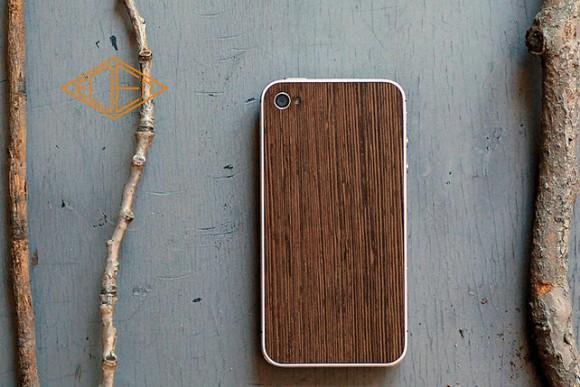 Деревянная сменная панель для iPhone