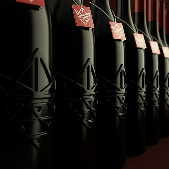 Концепт подарочной упаковки вина