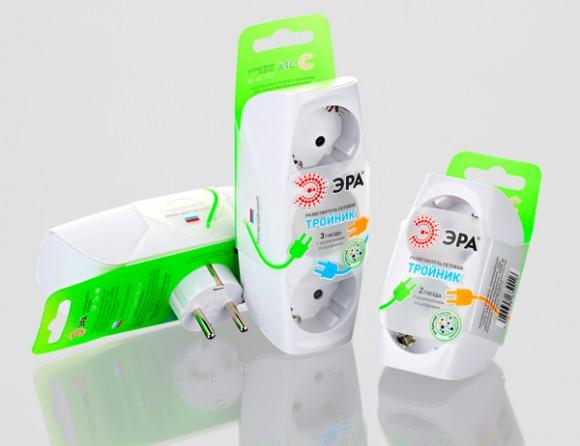Упаковка сетевого разветвителя Эра
