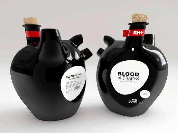 Концепт винной бутылки