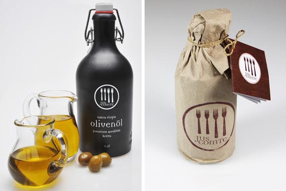 Дизайн бутылки оливкового масла