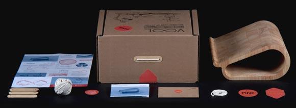 Упаковка деревянной подставки для MacBook