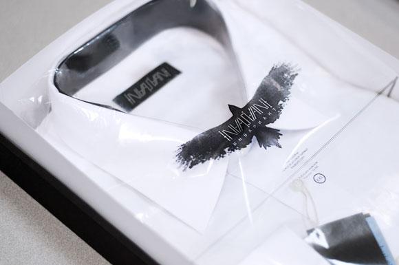 Упаковка мужской рубашки