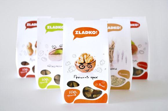 Концепт упаковки орехов и злаков