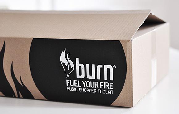 Упаковка энергетического напитка Burn