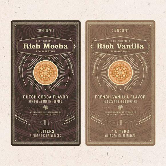 Дизайн упаковки сиропа