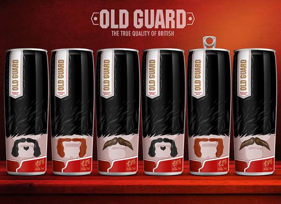 Концепт упаковки пива «Old Guard»