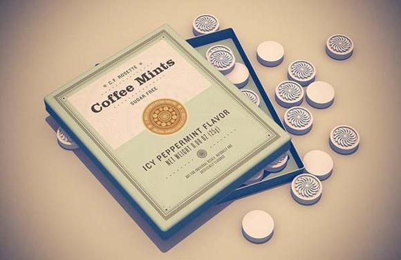 Дизайн упаковки мятных конфет