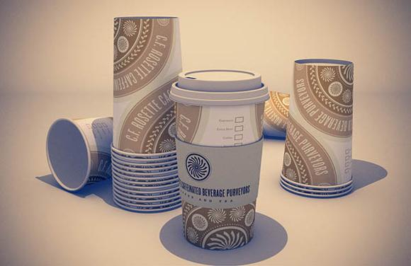 Фирменный стиль кофейни — дизайн стаканчиков