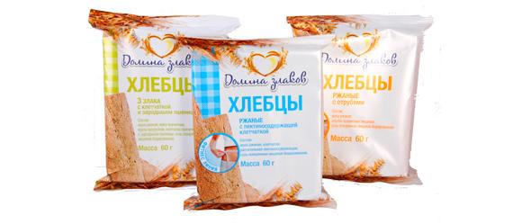 Предыдущий дизайн упаковки хлебцев «Долина злаков»