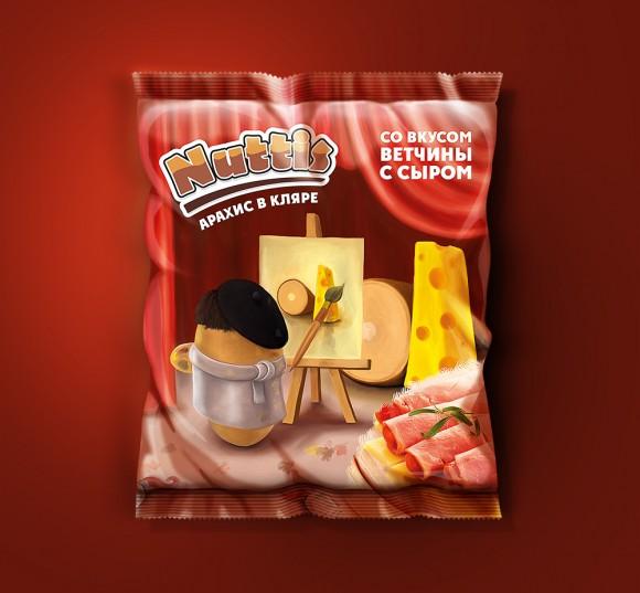 Дизайн упаковки арахиса в кляре