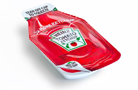 Дизайн порционной упаковки кетчупа