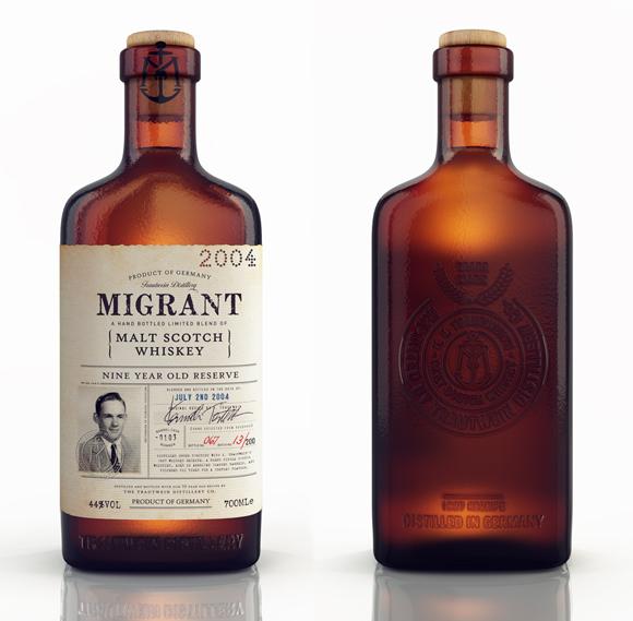 Концепт бутылки виски