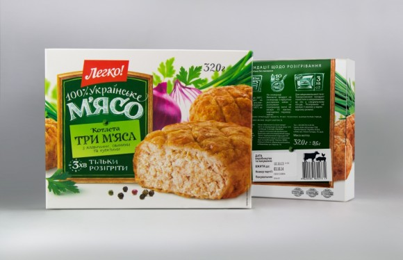 Дизайн упаковки мясных замороженных полуфабрикатов