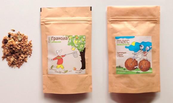 Упаковка печенья и гранолы Marc