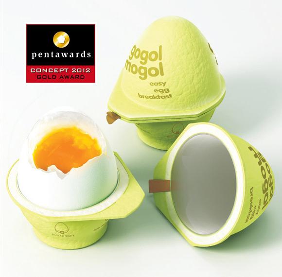 Концепт упаковки для яиц
