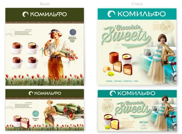 Редизайн конфет Комильфо