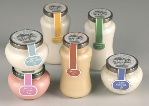 Дизайн упаковки фермерской молочной продукции