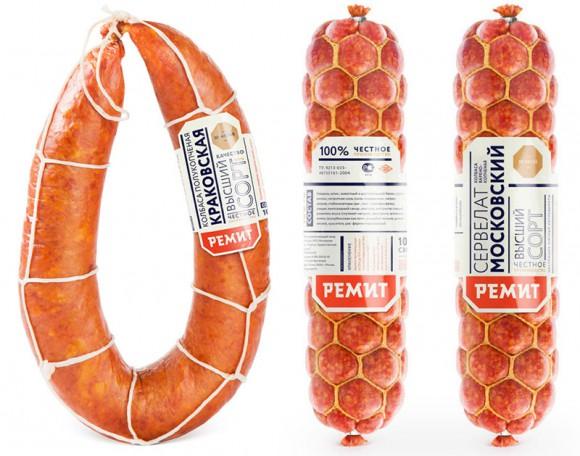 Дизайн упаковки колбасы и сосисок