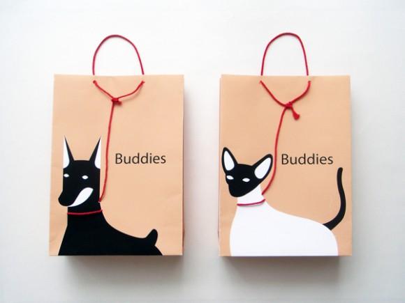 Концепт упаковки игрушек для животных