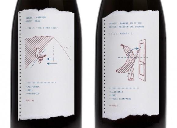 Иллюстрация в винной этикетке