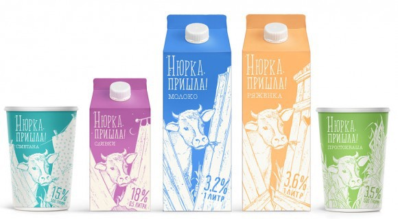 Дизайн упаковки молока