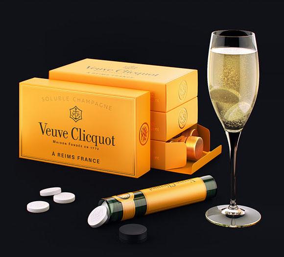 Концепт упаковки растворимого шампанского