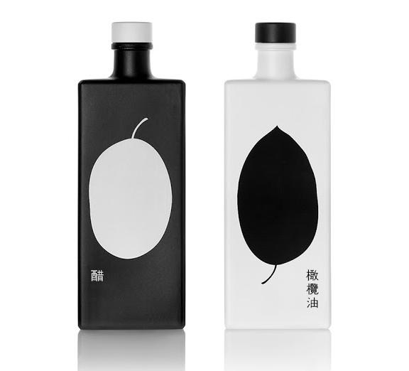 Дизайн упаковки масла и уксуса
