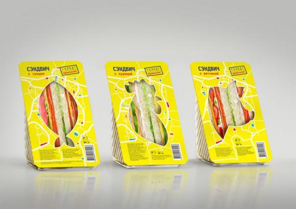 Дизайн упаковки сэндвичей