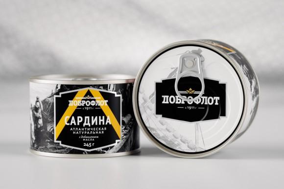 Дизайн упаковки сардин