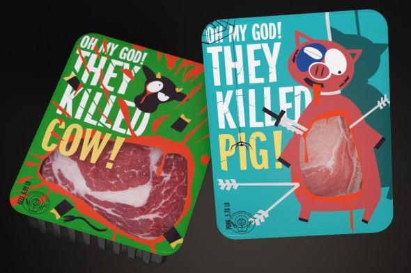 Концепт упаковки мяса