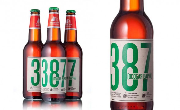 Дизайн этикетки пива 387 Особая варка