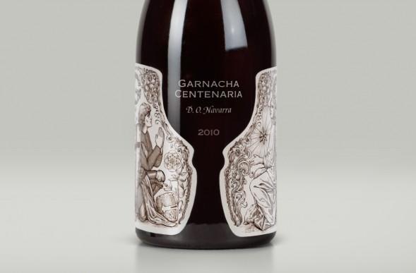 Лучшие алкогольные этикетки 2014: бутылка вина Garnacha Centenaria (D.O. Navarra) by Depot WPF
