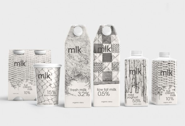 Дизайн упаковки молока mlk
