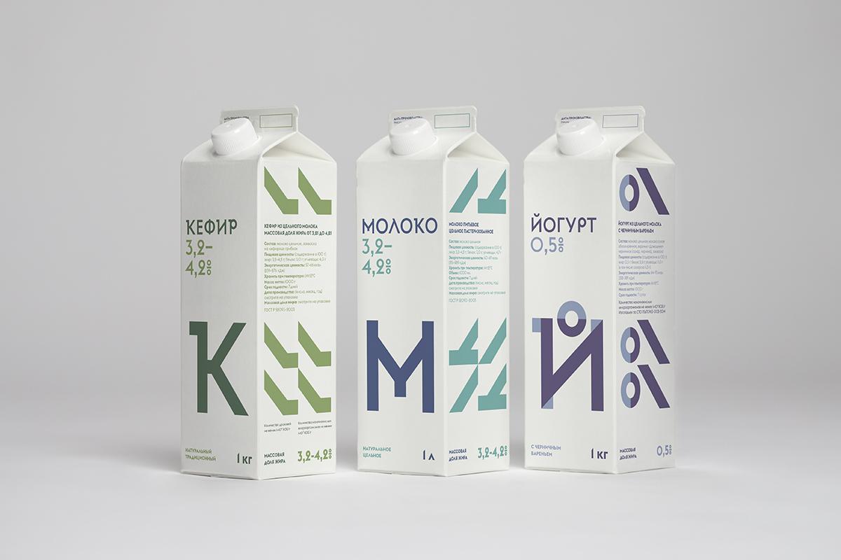 Молочная упаковка дизайн
