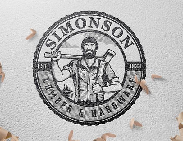 Фирменный стиль магазина строительных материалов Simonson