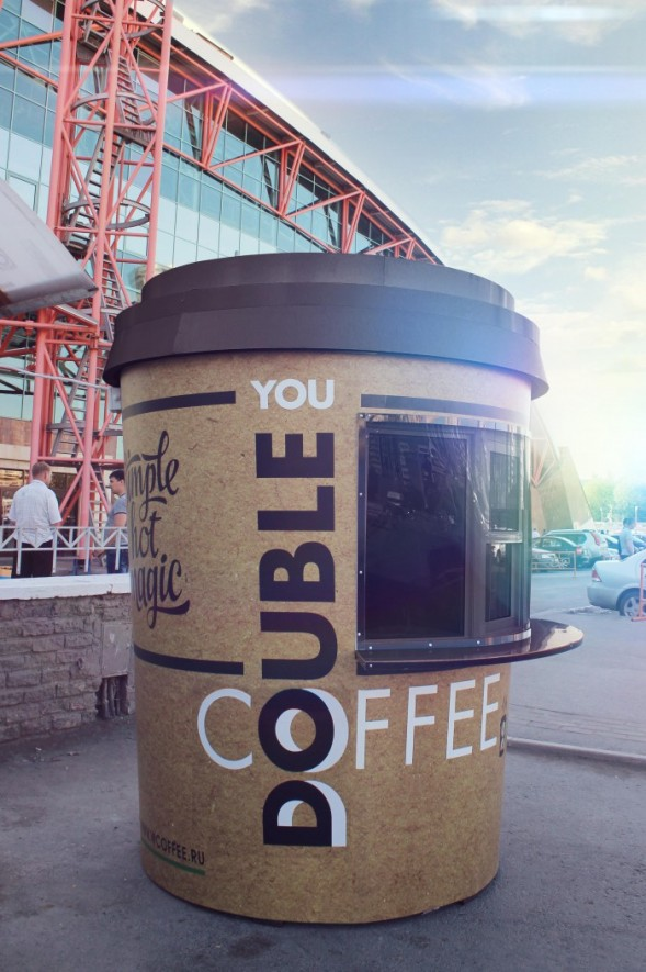 Фирменный стиль кофейни Double You by Lift Creative #typography