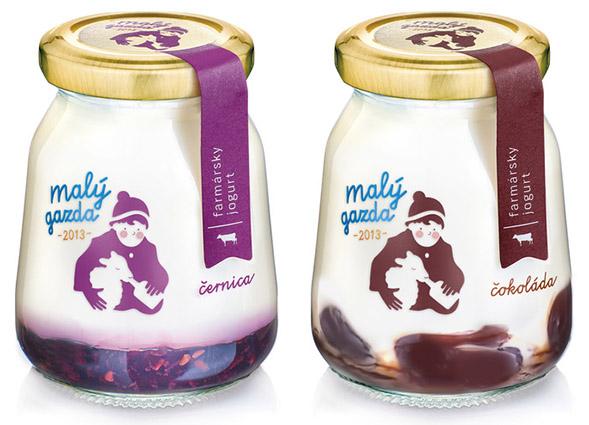 Дизайн упаковки молочных продуктов Maly Gadza by Pergamen