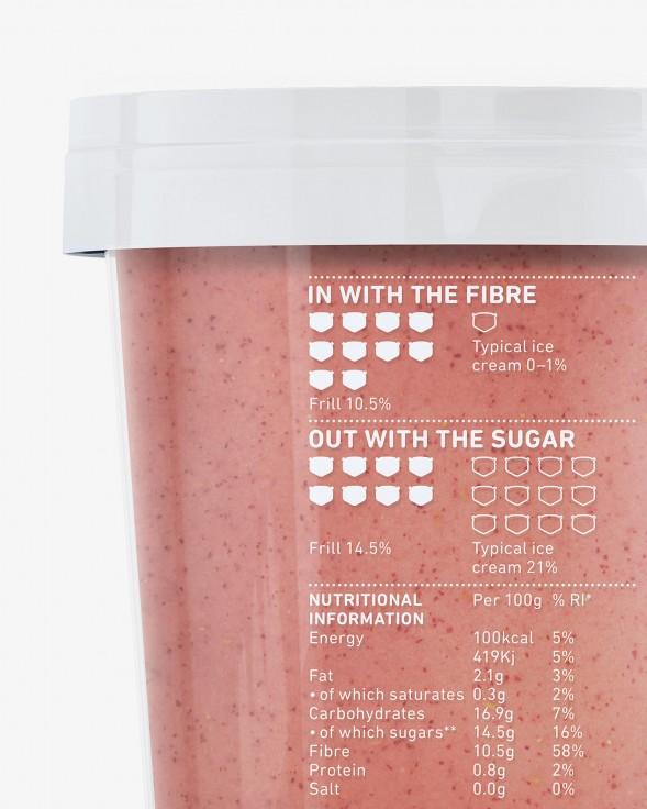 Дизайн упаковки йогуртов Frill Frozen Desserts